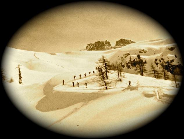 Scialpinismo 1977 - Val Maira (foto Carlo Crovella).