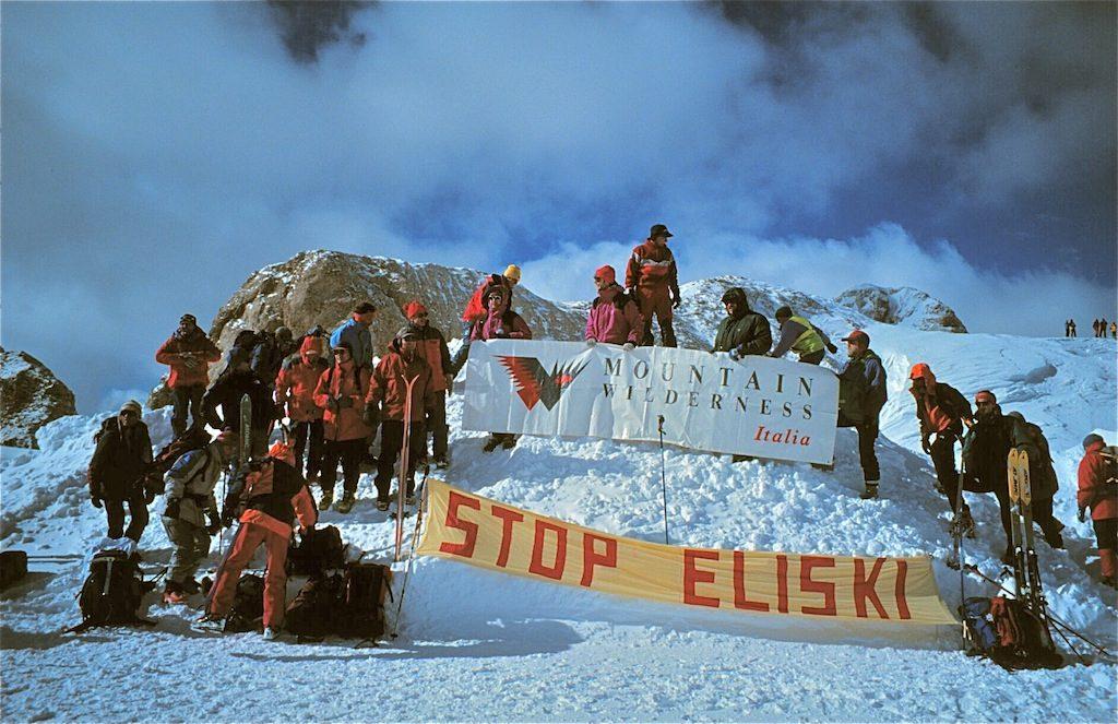 Una manifestazione di MW sulla Marmolada.
