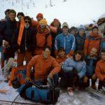 Montagne di Entrelor (aprile 1986): uscita del secondo corso Sucai, con pernottamento in truna