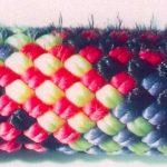 Usura della camicia di uno spezzone di corda (si noti la caratteristica peluria) da 10.5 mm, dopo 49 calate consecutive in doppia per mezzo dell'Otto.