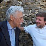 Marco Revelli e LUca Mercalli all'inaugurazione del nuovo rifugio a Paraloup.