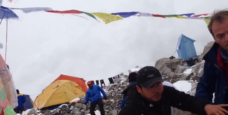 La valanga sull'Everest